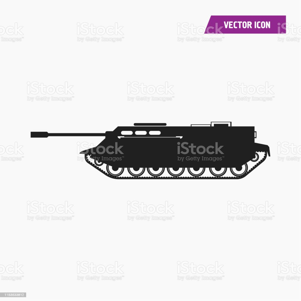 black filled artillery military tank icon stock illustration download image now istock https www istockphoto com vector black filled artillery military tank icon gm1153533812 313330503
