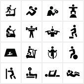 Black Fitness Icons