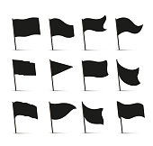 Black flag icons