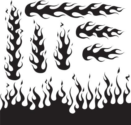 Black Flame Design Decals