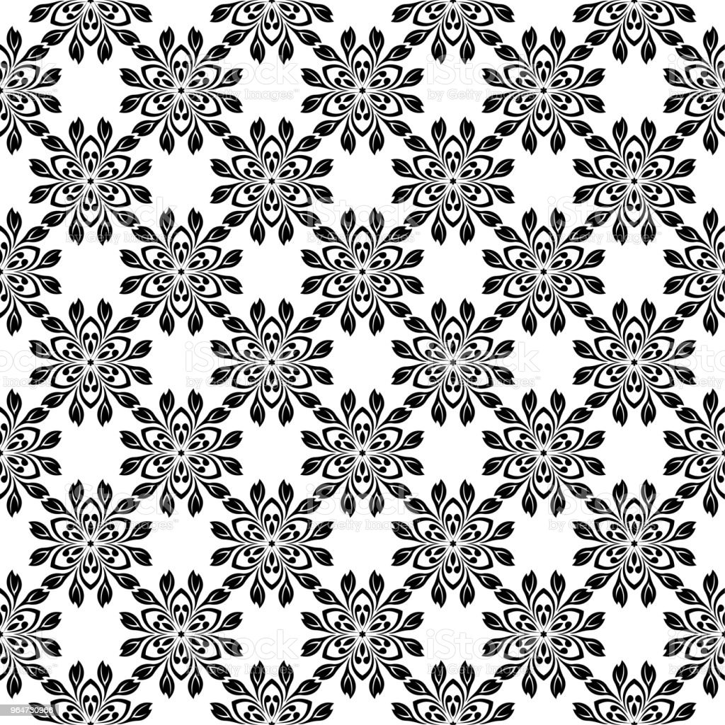 Black floral seamless design on white background royalty-free black floral seamless design on white background stock vector art & more images of abstract