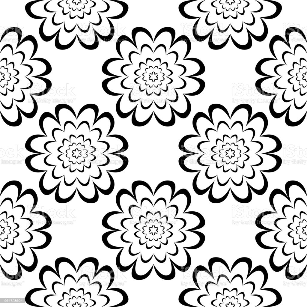 Black floral seamless ornament on white background royalty-free black floral seamless ornament on white background stock vector art & more images of abstract
