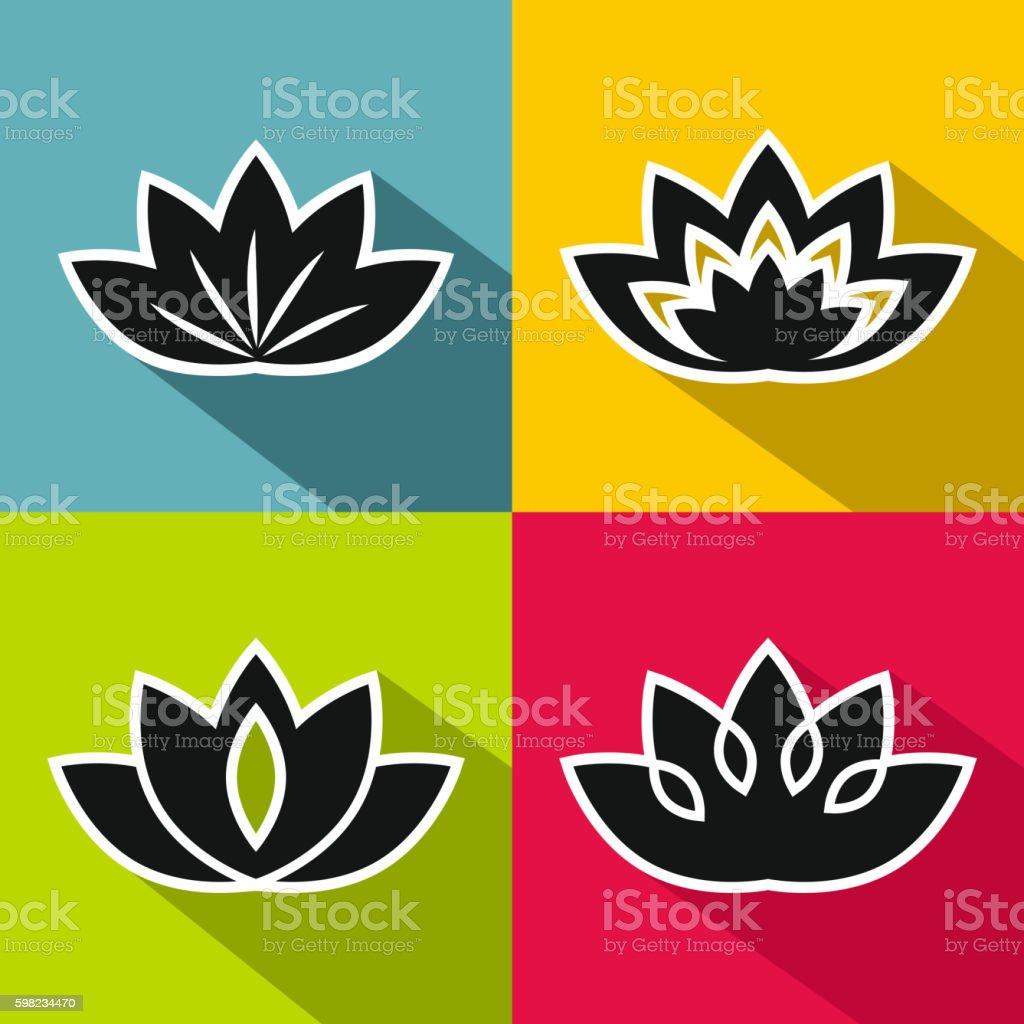 Black flowers with white stroke on  background ilustração de black flowers with white stroke on background e mais banco de imagens de abstrato royalty-free