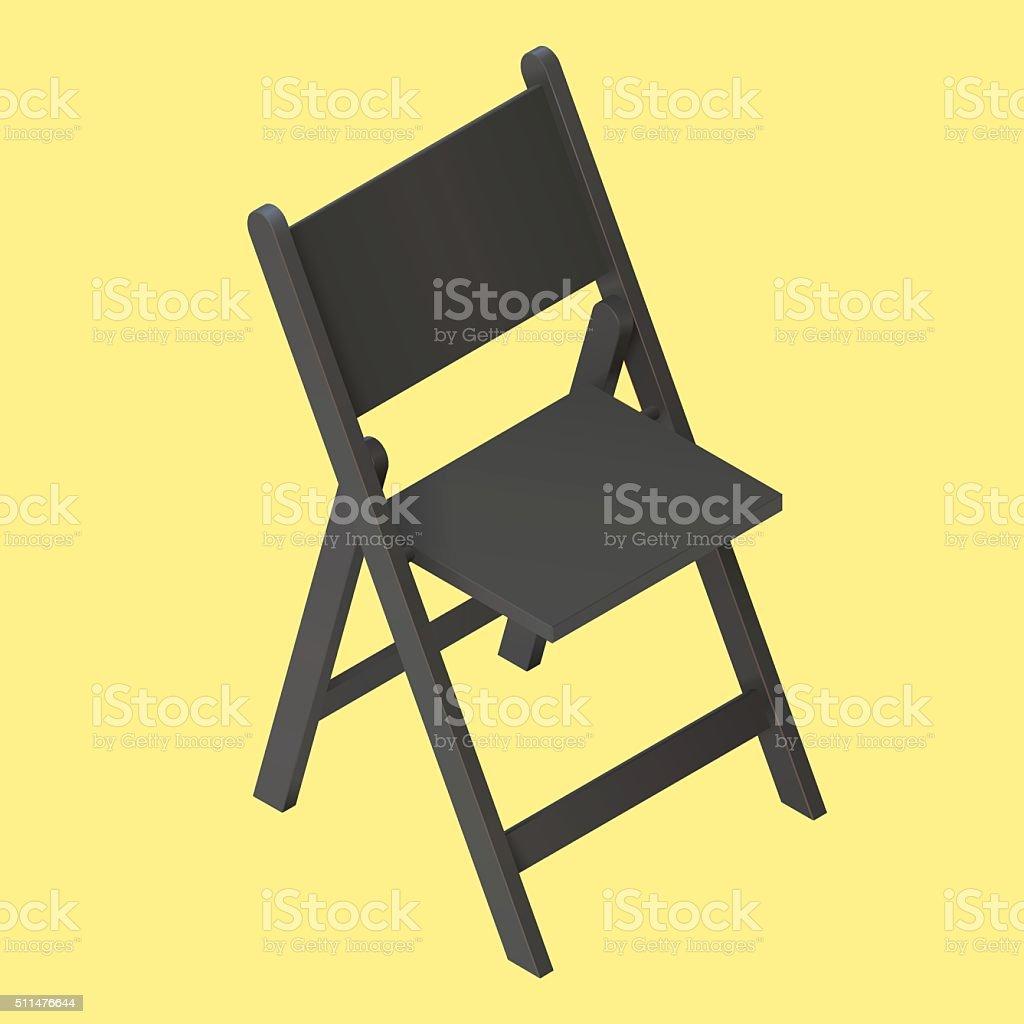 Clip De Art Negro Más Isométrica Ilustración Libres Derechos Vectores Plegable Silla Y Vector OPknw0