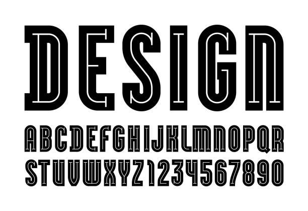 黑色字體,現代字母,深色時髦字母(a,b,c,d,e,f,g,h,i,j,k,l,m,n,o,p,q,r,s,t,u,v,w,x,y,z)和數位(0,1,2,3,4,5,6,7,8,9),向量圖10eps - weihnachten 幅插畫檔、美工圖案、卡通及圖標