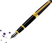 black fountain pen