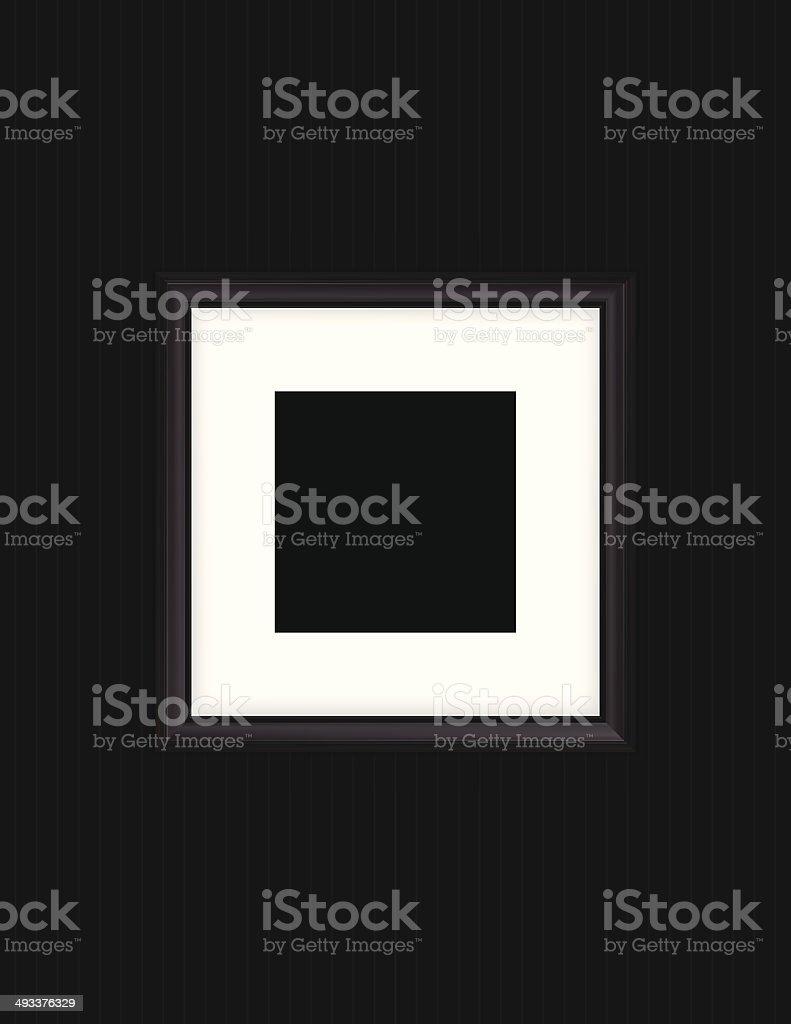 high detailed illustration of black Photo Frame on black background.