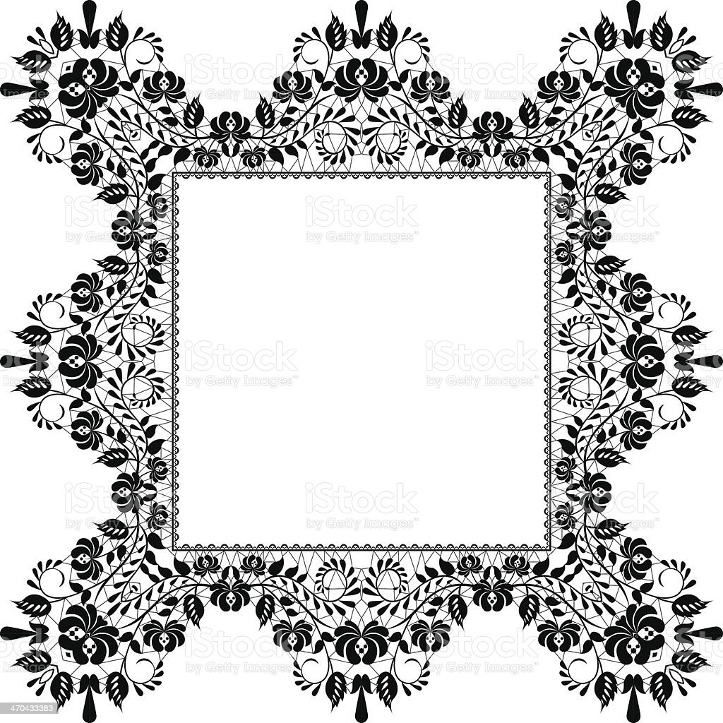 black frame royalty-free stock vector art