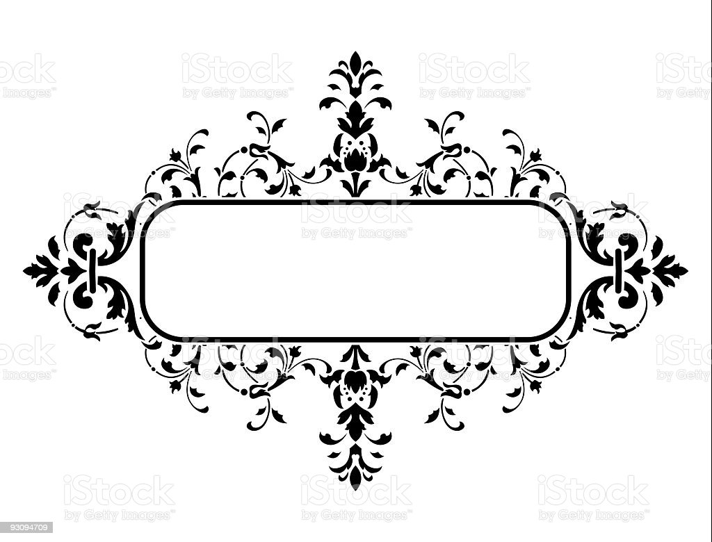 black frame with floral decoration royalty-free black frame with floral decoration stock vector art & more images of abstract