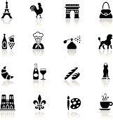 Black France Icon Set