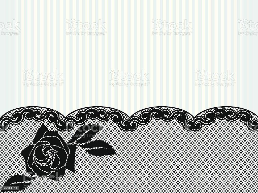 lace-Hintergrund Schwarz Lizenzfreies lacehintergrund schwarz stock vektor art und mehr bilder von altertümlich