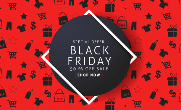 black friday 10 vector art illustration