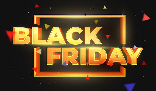 Black Friday 3d Text Sale Banner Template Design Beautiful Discount And Promotion Banner Stock Illustration - Download Image Now
