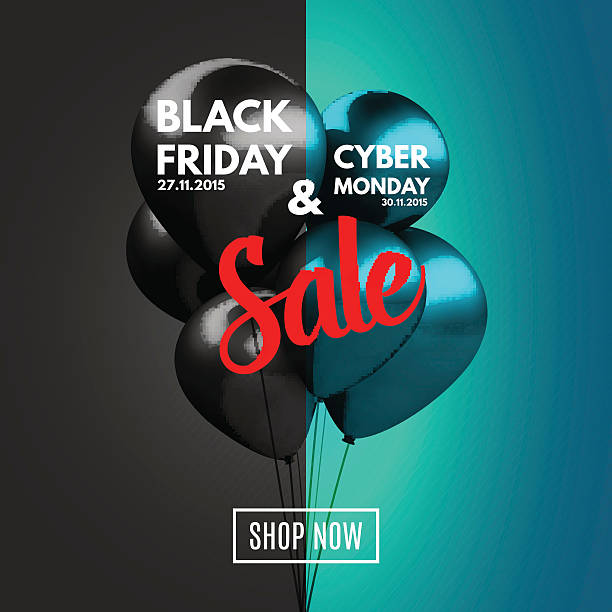Black Friday and Cyber Monday Sale concept background. Black Friday and Cyber Monday Sale concept background. Vector Illustration EPS10. cyber monday stock illustrations
