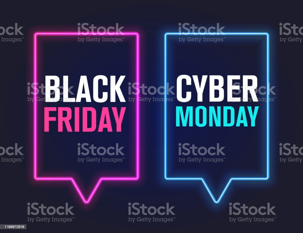 black friday and cyber monday, vector illustration - Векторная графика Black Friday роялти-фри