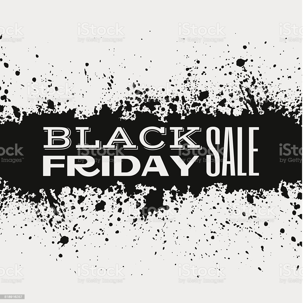 Black Friday Announcement On Ink Splatter Stock Illustration Download Image Now Istock