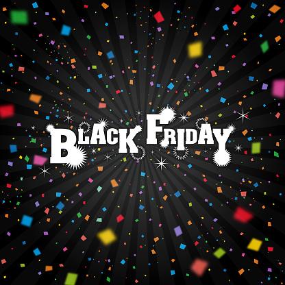 Black Friday background [Confetti falling]