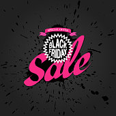 """This illustration is a background of the text for """"Black Friday""""."""