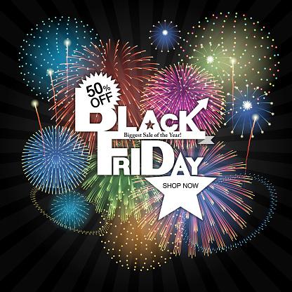 Black Friday background [Fireworks]