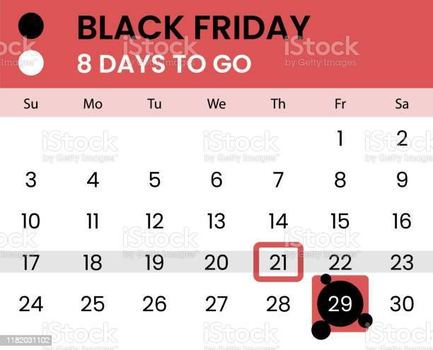 Ilustración de Bandera Del Viernes Negro Como Calendario Con Cuenta Regresiva y más Vectores Libres de Derechos de Acuerdo