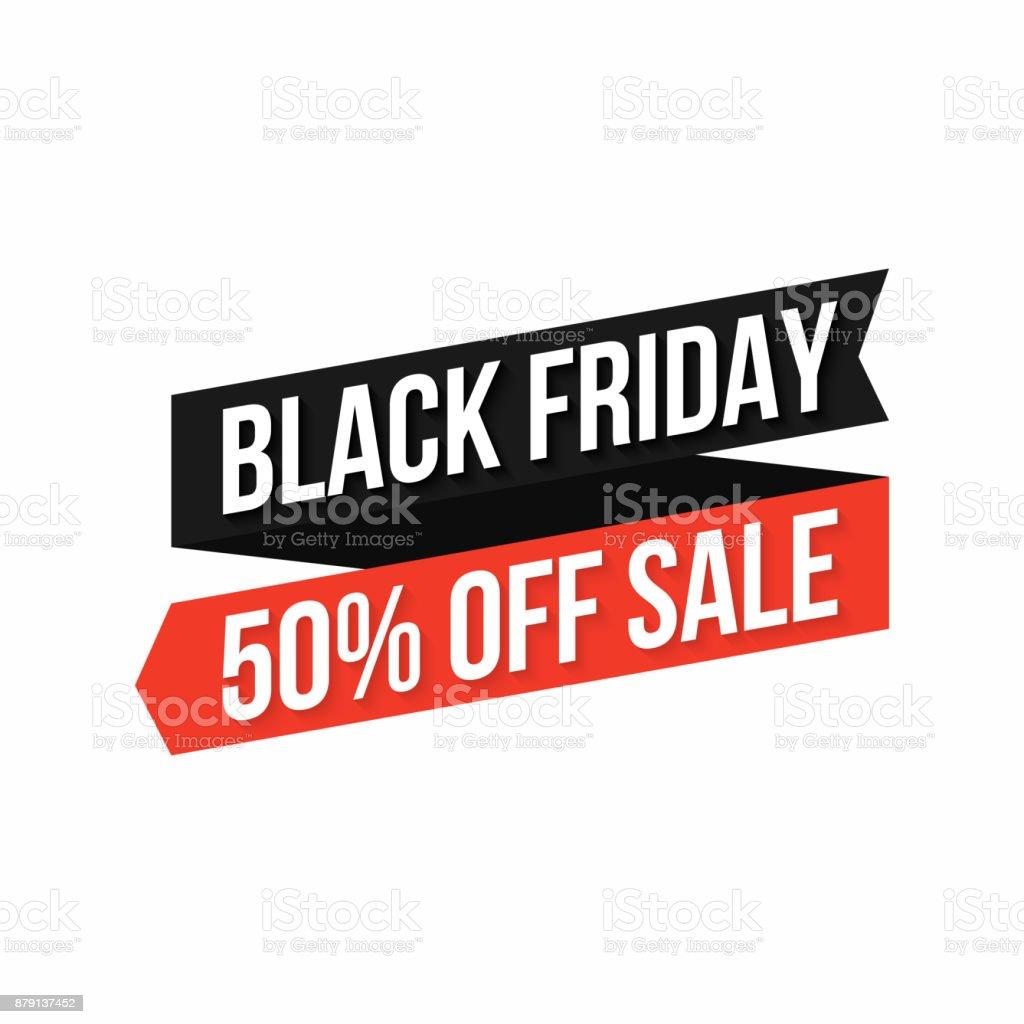 Black Friday Banner Discount Sticker Black Friday Design Element For