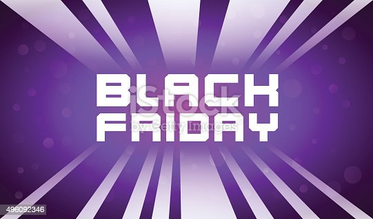 Shining Banner for Advertising of Black Friday - Vector Illustration