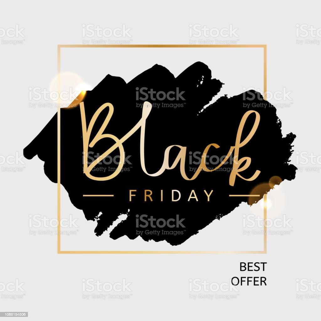 Schwarzer Freitag Beste Angebot Designvorlage Vektorillustration