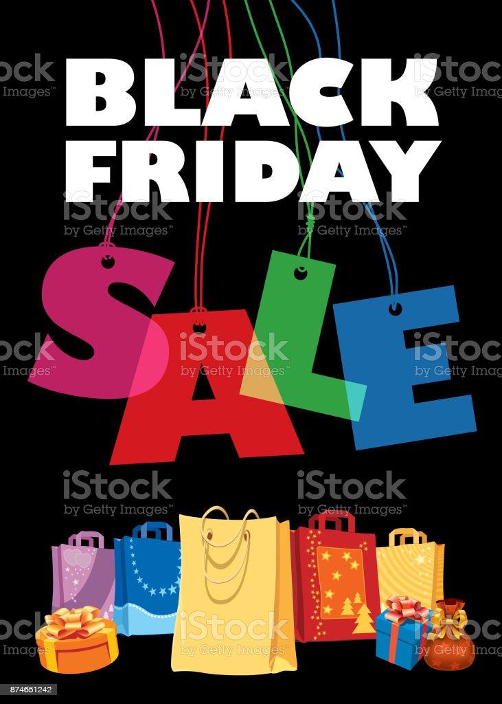 Black Friday, Big Sale vector art illustration