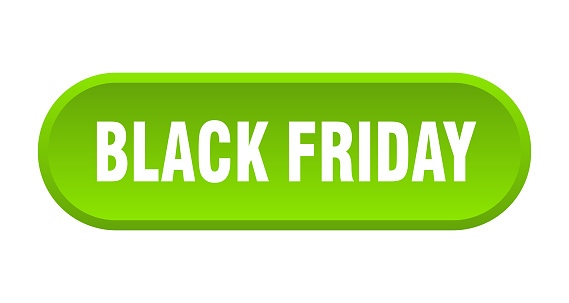 black friday button. rounded sign on white background