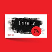 Black friday card template. Vector design. Vector illustration EPS10. File contains Ai and PDF formats.