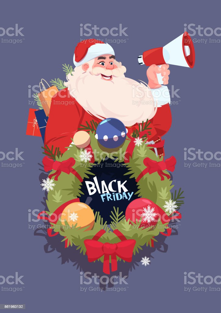 black friday christmas and happy new year promotion banner seasonal holiday discount label royalty free - Black Friday Christmas Decoration Deals