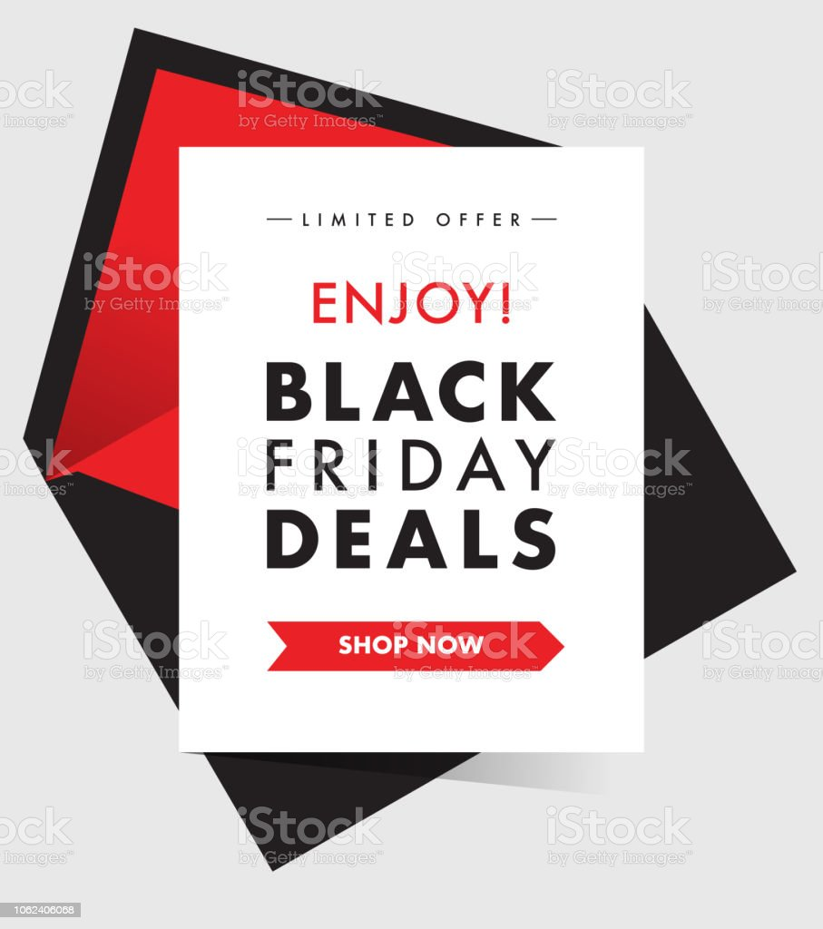 Black Friday Deals Discount Promotion Creative Campaign Banner Or