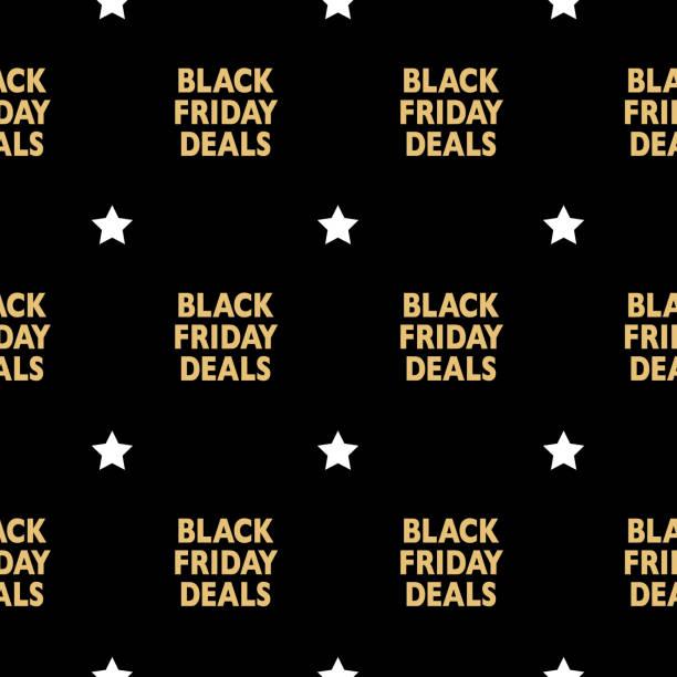 siyah cuma fırsatlar seamless modeli - sale stock illustrations