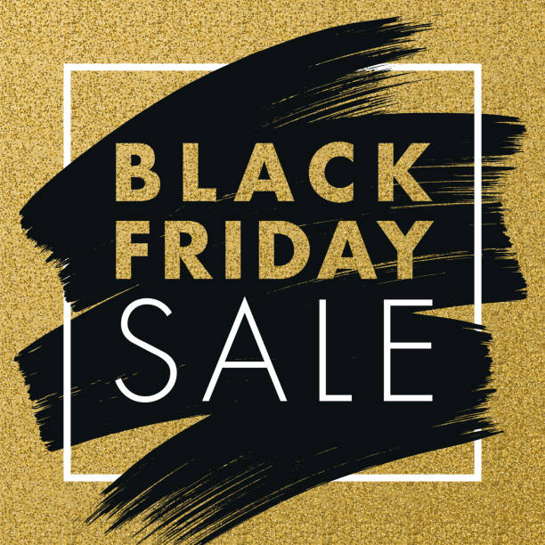 black friday design for advertising, banners, leaflets and flyers. - black friday stock illustrations