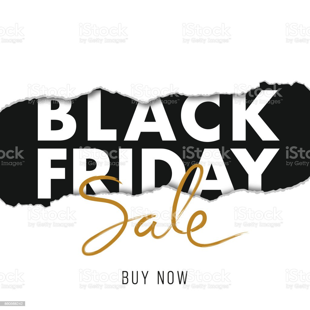 Black Friday design for advertising, banners, leaflets and flyers. vector art illustration