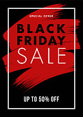 Black Friday design for advertising, banners, leaflets and flyers. - Illustration