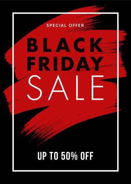 검은 금요일 디자인 전단지, 전단지, 배너, 광고에 대 한. - black friday stock illustrations