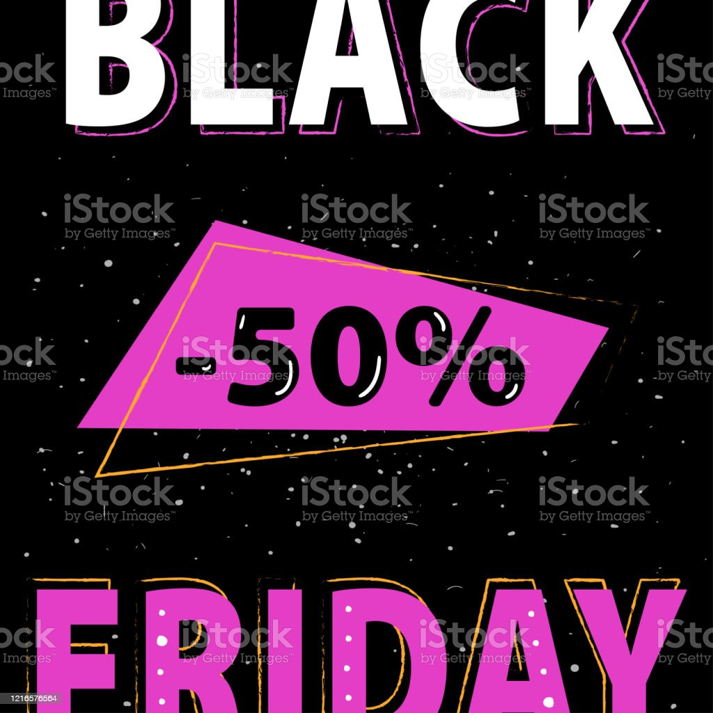 Black Friday Discount Pink Banner Layout Design Stock Illustration Download Image Now Istock