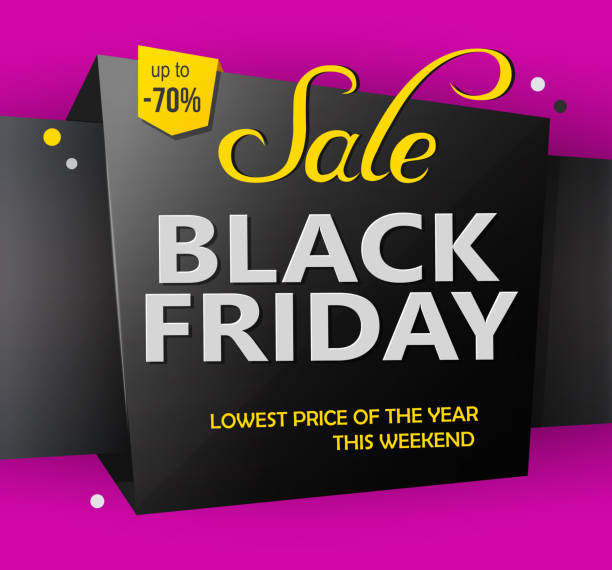 black friday discounts label template stock vector art more images