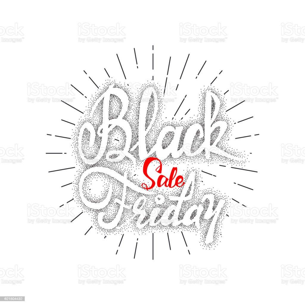 Black Friday dotworking sale - stickers, badges, has written calligraphy Lizenzfreies black friday dotworking sale stickers badges has written calligraphy stock vektor art und mehr bilder von ausverkauf