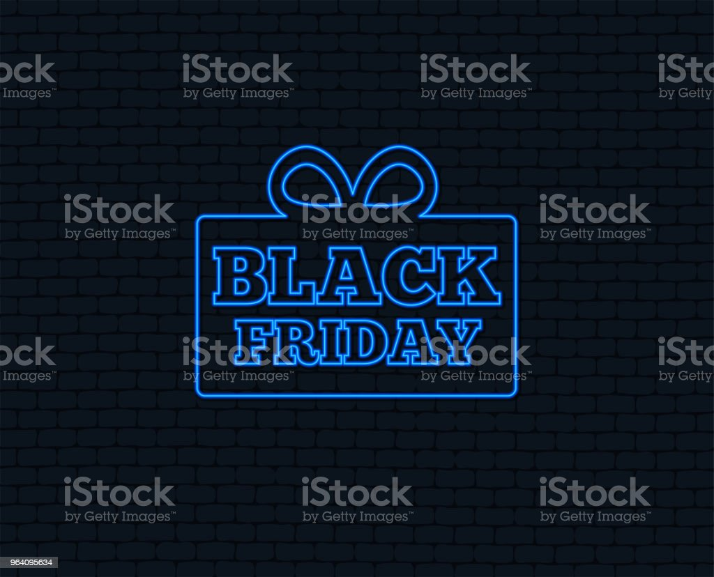 Black friday gift sign icon. Sale symbol. - Royalty-free Art stock vector