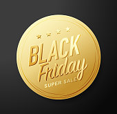 Black Friday golden sticker