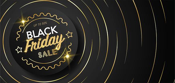 Black Friday Golden Web Banner