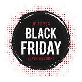Black Friday Halftones Sticker