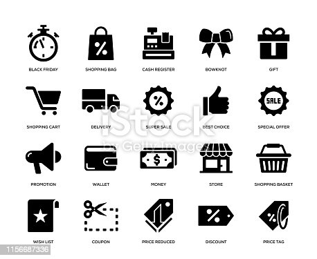 Black Friday Icon Set
