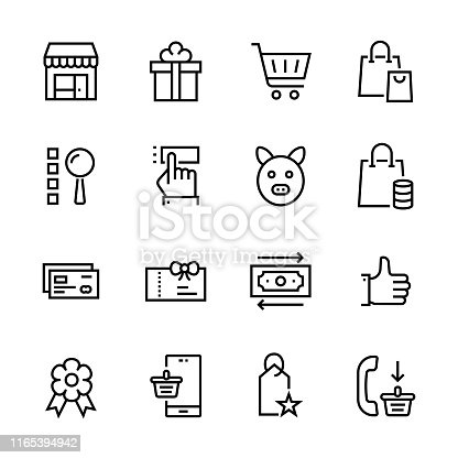 Line Icons for website and mobile apps. Pixel Perfect 24x24 Icons.