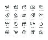 istock Black Friday Icons - Line Series 1061303100