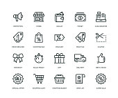istock Black Friday Icons - Line Series 1061303100