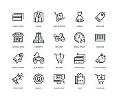 Black Friday Icons - Line Series