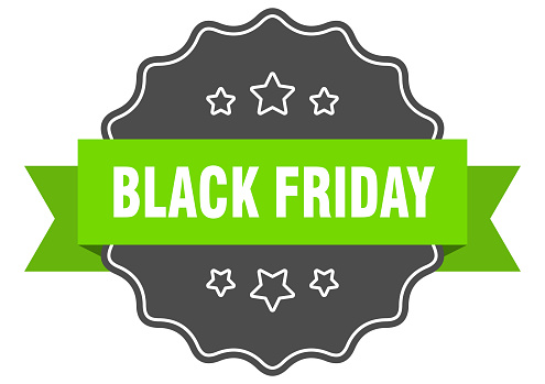 black friday label. black friday isolated seal. sticker. sign